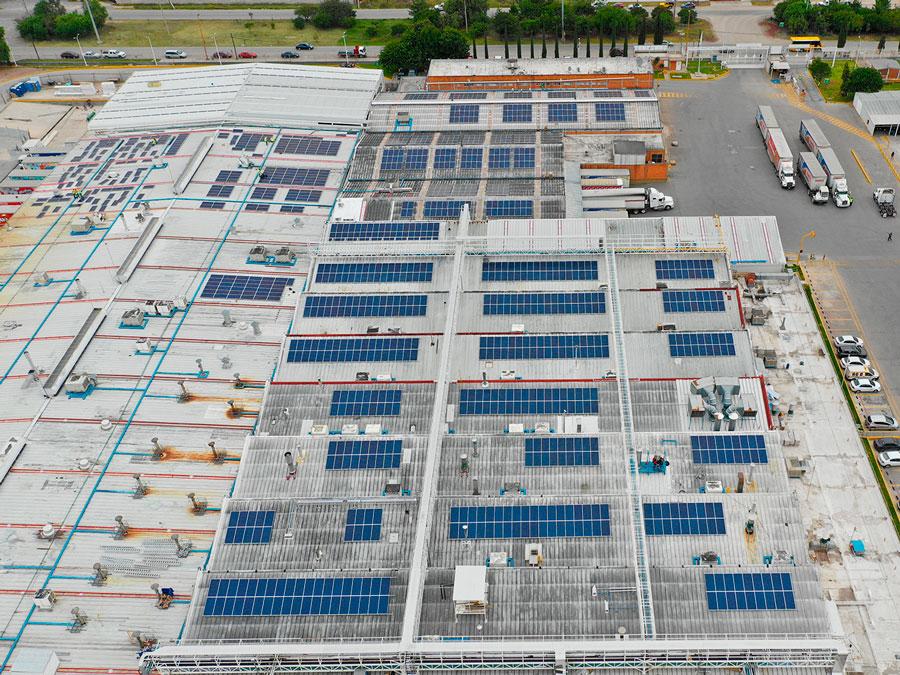 Proyecto de Instalación paneles solares México Bimbo San Luis Potosí