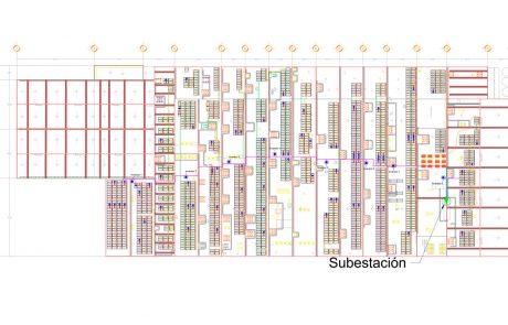Layout de Instalación paneles solares México Marinela Zapopan
